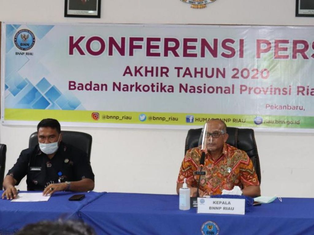 BNN Riau Tangkap 52 Orang-Sita 74 Kg Sabu Selama 2020