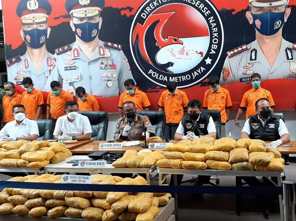 Polisi Tetapkan 10 Tersangka Terkait Kasus Sabu 201 Kg di Petamburan