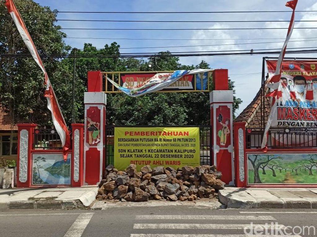 Aksi Penyegelan Gedung SDN di Banyuwangi, Polisi dan PN Tak Tahu Menahu