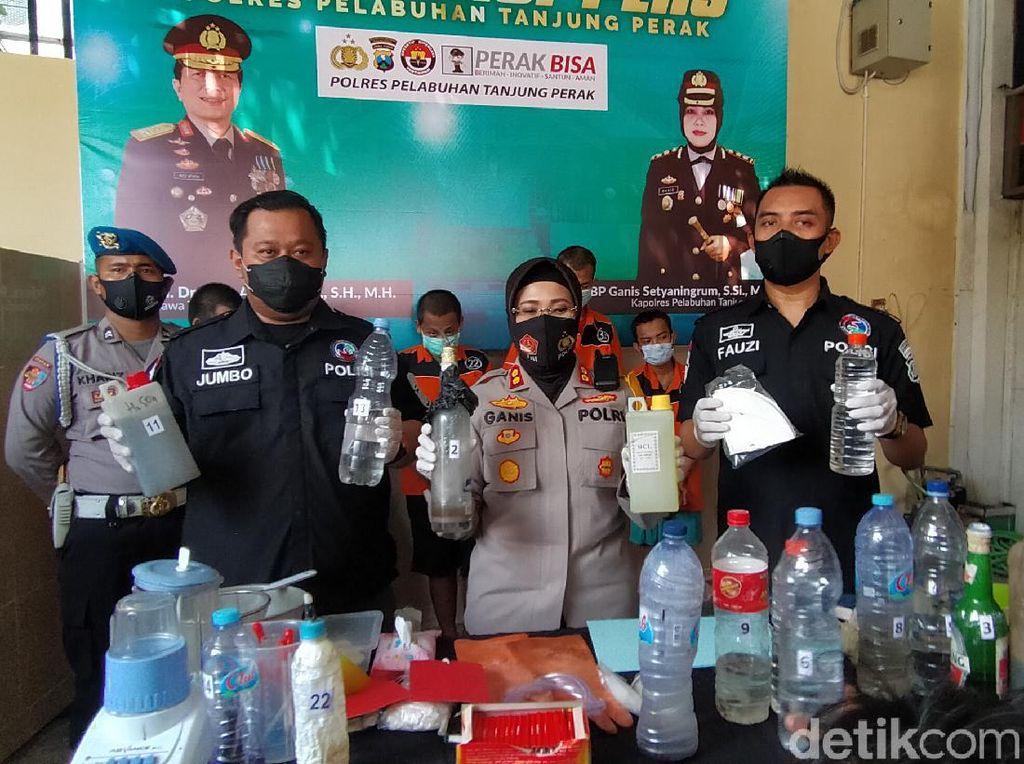 Polisi Gerebek Home Industry Sabu di Surabaya