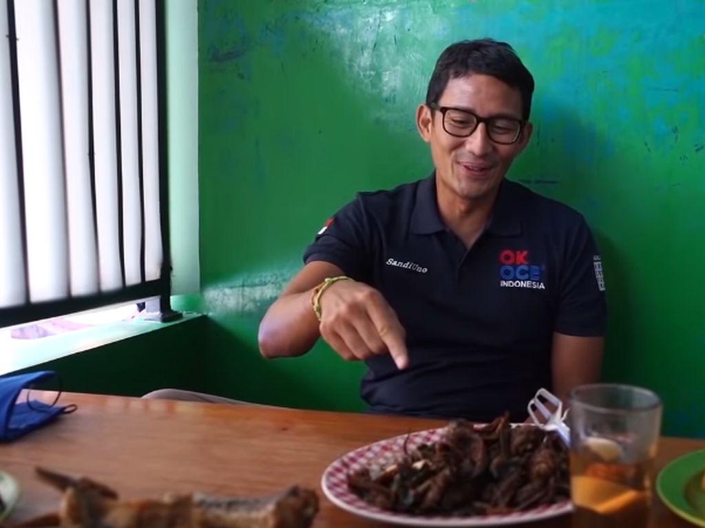 Sandiaga Uno Jelajah Indonesia, Makan Belut hingga Pecel Lele