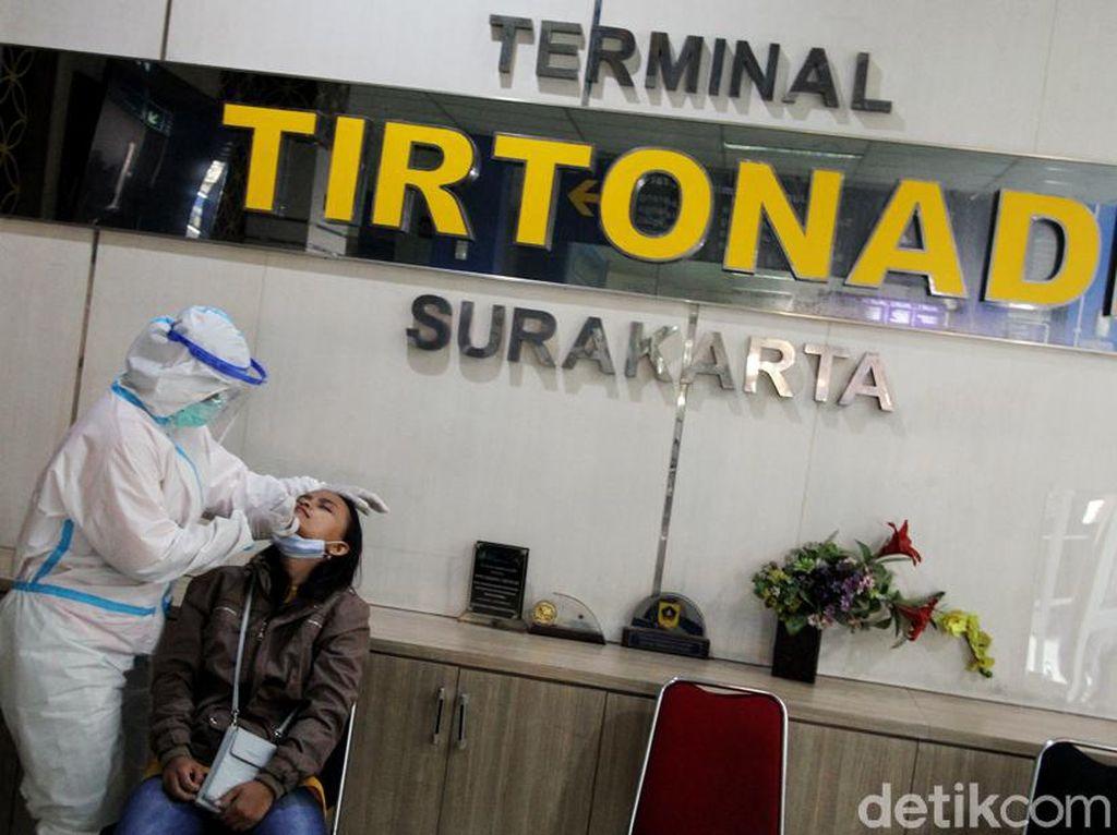 Ada Layanan Tes Antigen Gratis di Terminal Tirtonadi Solo