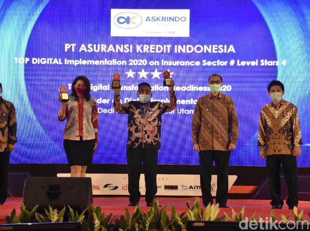 Askrindo Raih Penghargaan Top Digital Awards 2020