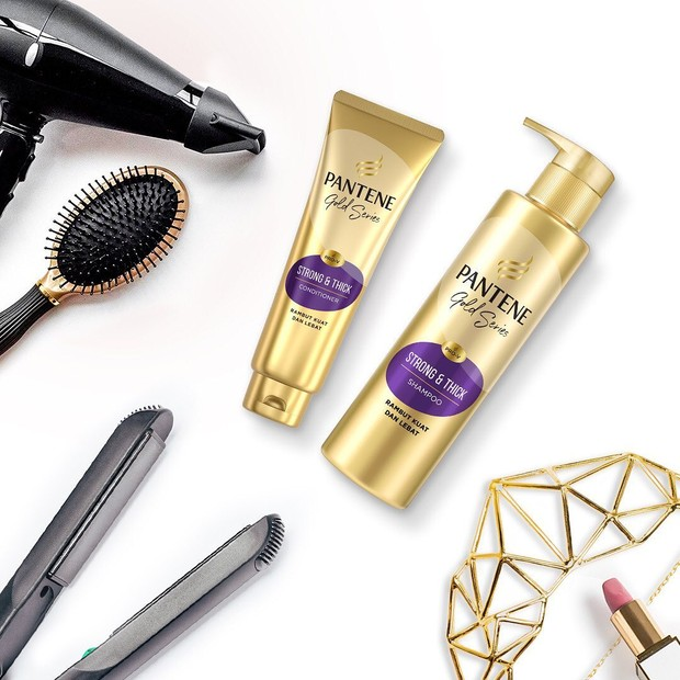 Pantene Strong & Thick Gold Series Shampo