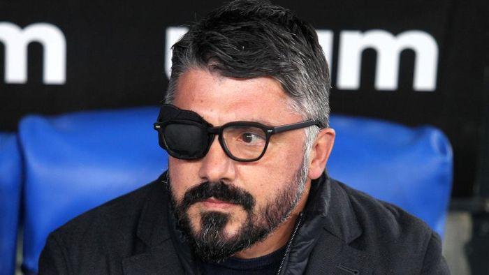 ROME, ITALY - DECEMBER 20: Gennaro Gattuso, head coach of Napoli looks on during the Serie A match between SS Lazio and SSC Napoli at Stadio Olimpico on December 20, 2020 in Rome, Italy.Sporting stadiums around Italy remain under strict restrictions due to the Coronavirus Pandemic as Government social distancing laws prohibit fans inside venues resulting in games being played behind closed doors. (Photo by Paolo Bruno/Getty Images)