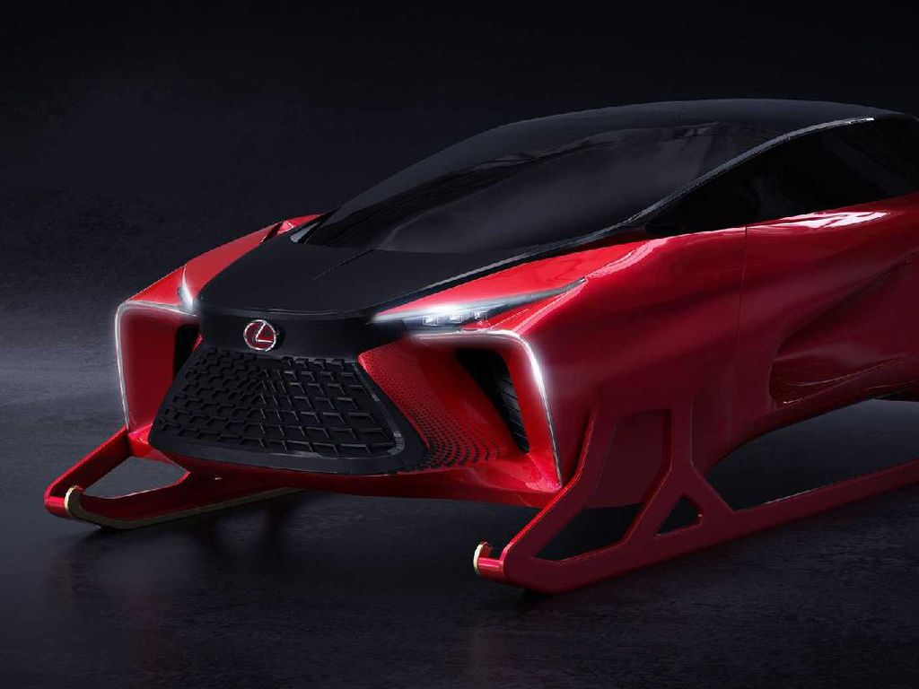 Konsep Mobil Mewah Lexus Jadi Kereta Sinterklas