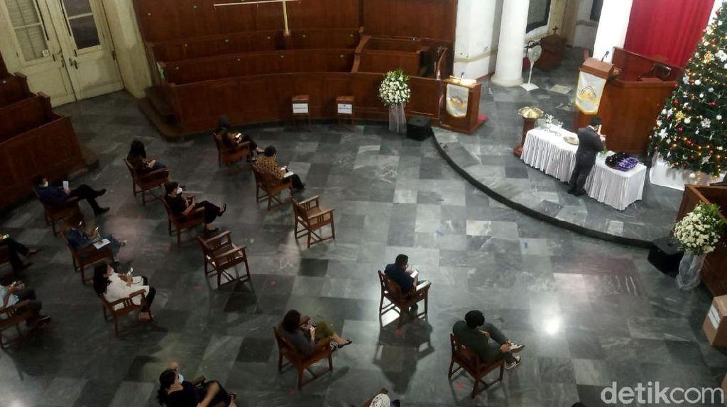 Ibadat Malam Natal di Gereja Immanuel Terapkan Protokol Kesehatan