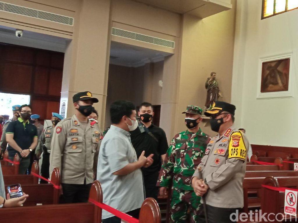 Ratusan Petugas Gabungan Disebar Jaga Gereja di Bandung