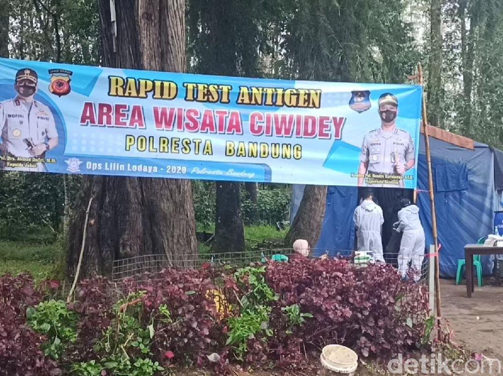 Libur Nataru, Wisatawan ke Ciwidey Bandung Jalani Rapid Antigen