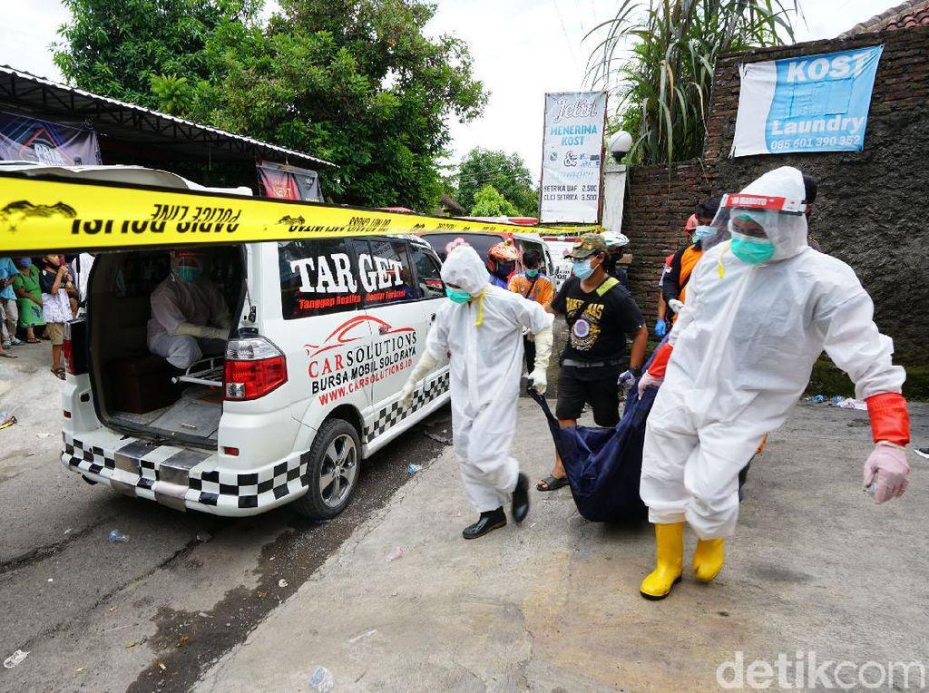 Jenazah 3 Korban Kebakaran Rumah Kos di Sukoharjo Dievakuasi ke RS