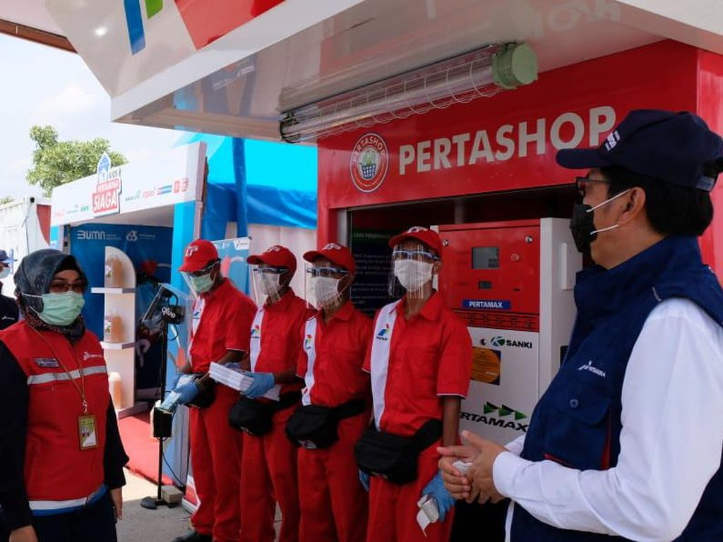 Komisaris & Direktur Pertamina Tinjau Layanan di Tol Trans Jawa