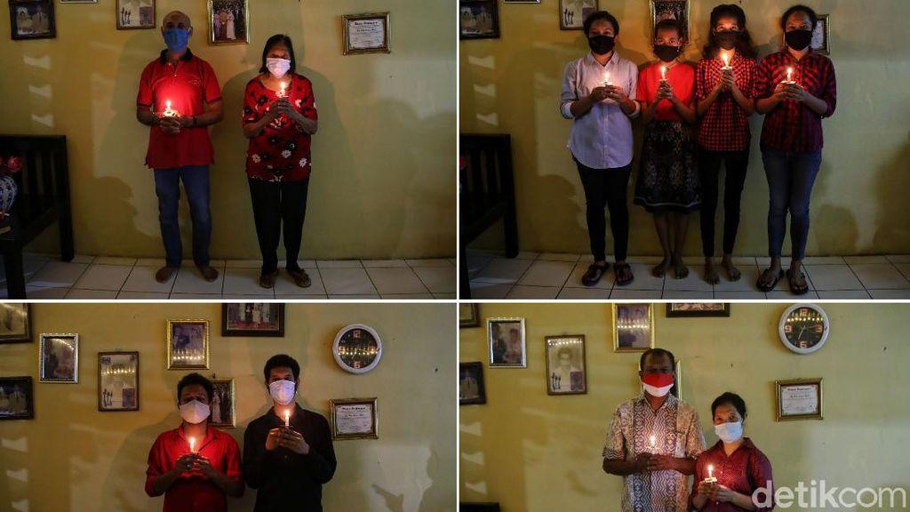 Potret Khusyuk Misa Natal di Rumah Umat Kristiani