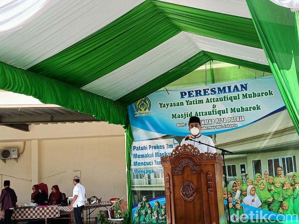 Wagub DKI Resmikan Yayasan Yatim dan Masjid At Taufiqul Mubarok di Jakut