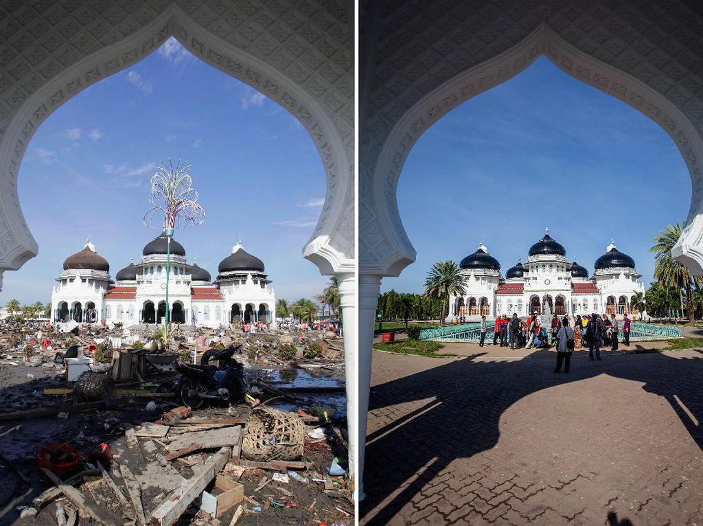 Before-After Tsunami Aceh