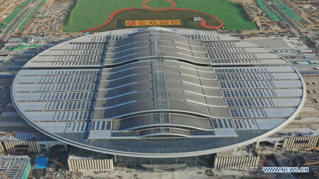 Megah! Stasiun Kereta Terbesar di China Baru Kelar Dibangun