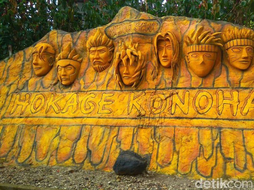 Ini Monumen Hokage Naruto dari Ponorogo