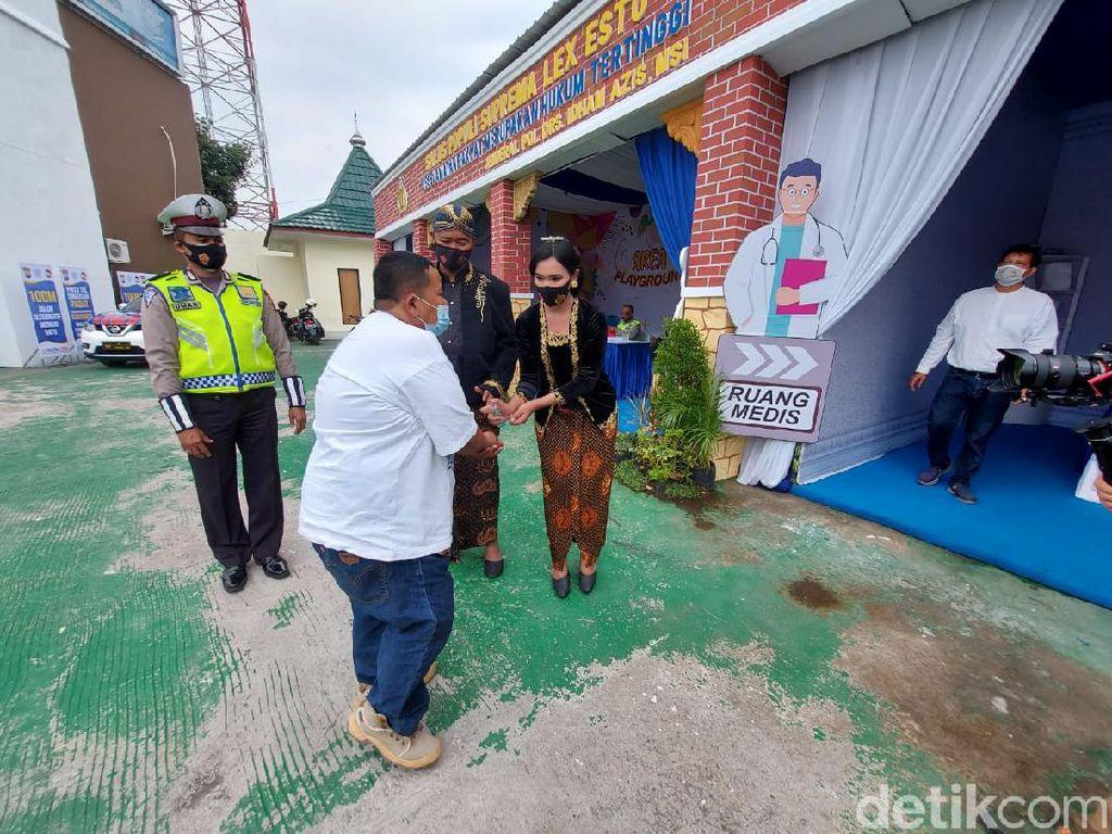 Polisi Sediakan Rapid Tes Gratis di Exit Tol Singosari