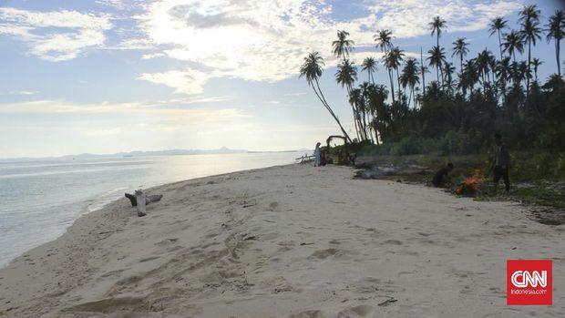 Pulau yang Jadi Tempat Kuburan Massal Korban Tsunami Aceh di Pulau Baguk, Kabupaten Aceh Singkil.