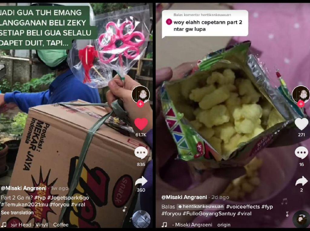 Untung! Netizen Dapat Hadiah Rp 24 Ribu dari Sekardus Snack Rp 18 Ribu
