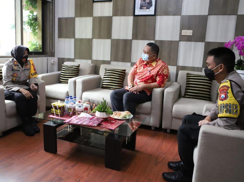 Whisnu Sakti Bertemu Kapolres Pelabuhan Tanjung Perak, Ini yang Dibahas