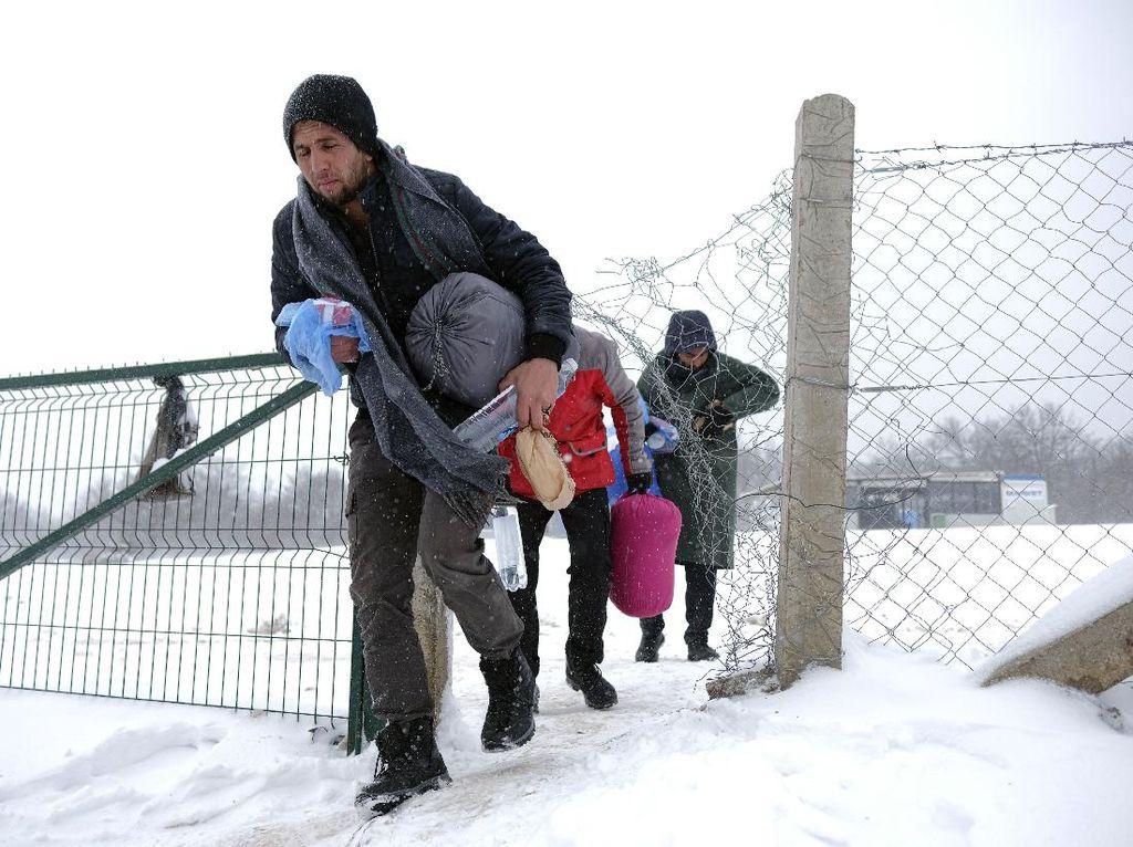 Derita Pengungsi Bosnia saat Musim Dingin Tiba