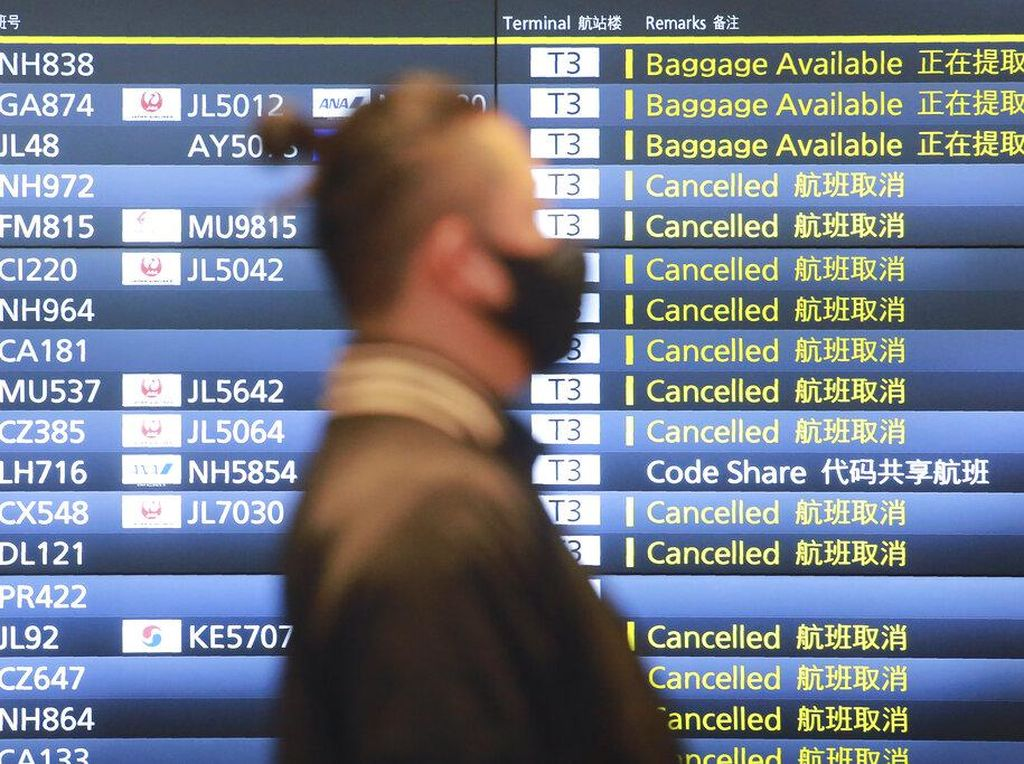 Begini Suasana di Bandara Haneda Usai WNA Dilarang Masuk Jepang