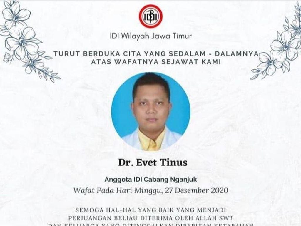Berjuang Dua Minggu, Dokter di Nganjuk Meninggal Positif COVID-19