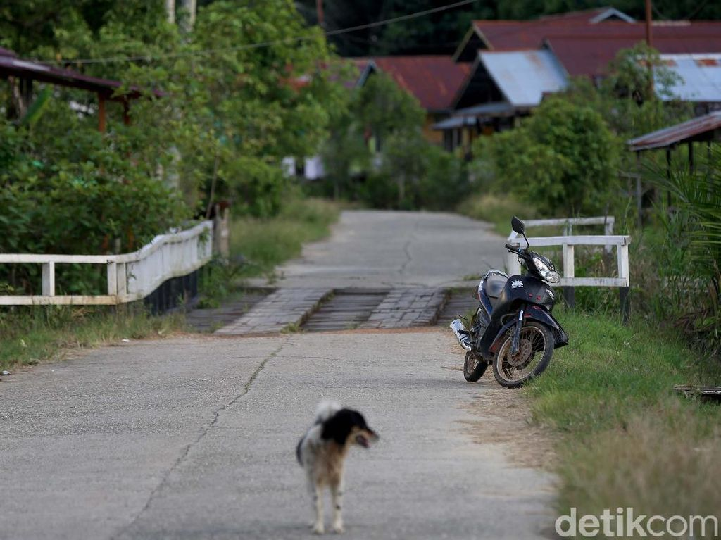 Foto: Cerita Unik Perbatasan, Motor Ditinggal Pinggir Jalan Tetap Aman
