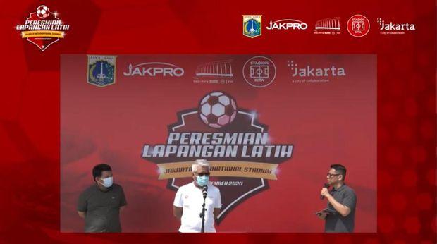 Lapangan latihan Jakarta International Stadium diresmikan.