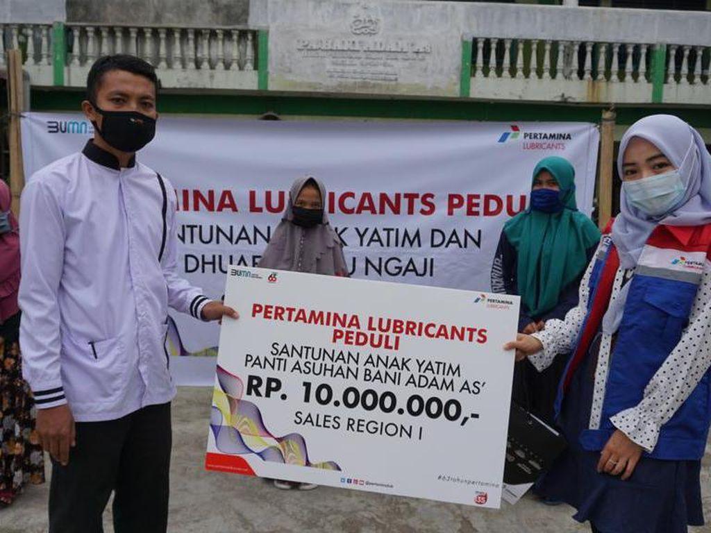 Pertamina Lubricants Santuni 1750 Yatim, Duafa, & Guru Ngaji