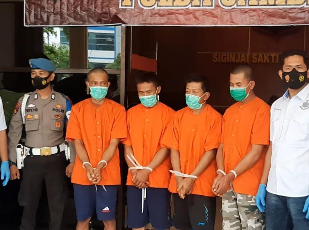Polisi Bekuk 4 Dalang Rusuh di Kerinci Jambi, 8 Senpi Laras Panjang Disita