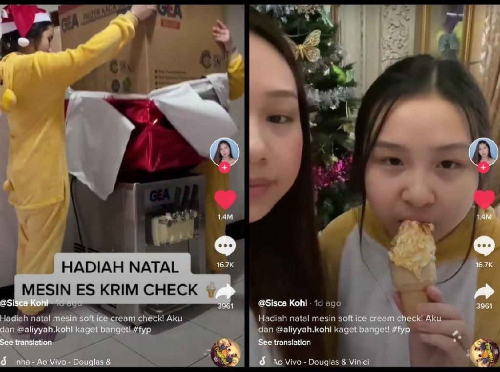 Sultan! Netizen Ini Dapat Hadiah Natal Mesin Es Krim