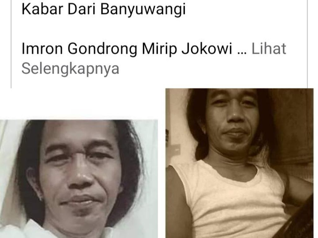 Pria Mirip Presiden Jokowi Viral di Medsos