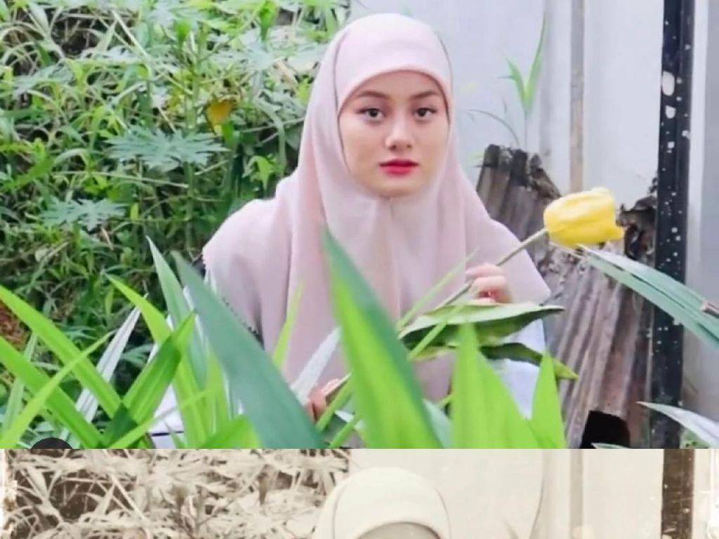 6 Pesona Dinda Hauw Foto Ala 90-an, Pakai Hijab Bak Anak Madrasah