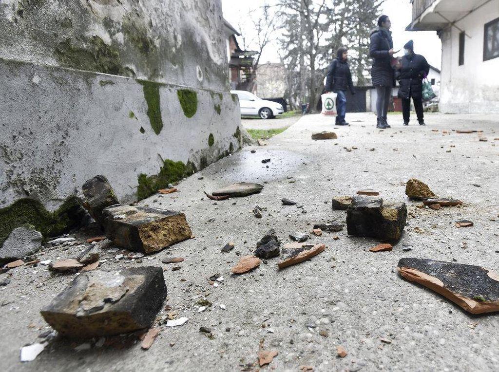 Penampakan Reruntuhan di Kroasia Usai Diguncang Gempa M 6,3