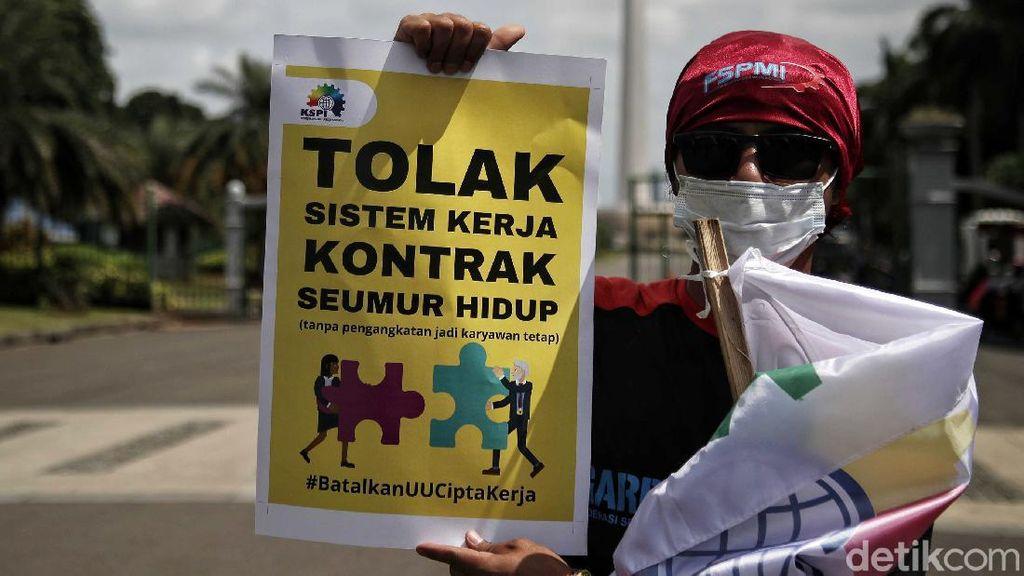 Lagi, KSPI Demo Tolak Omnibus Law