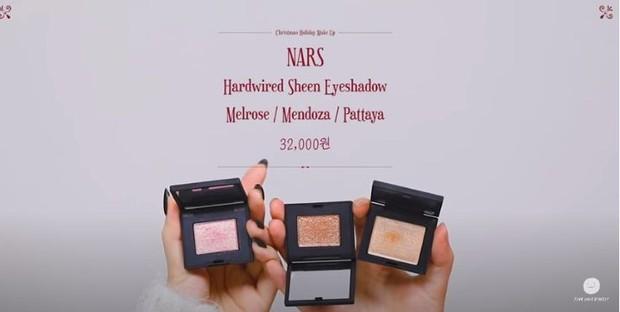 Lee Hi memakai NARS Hardwired Sheen Eyeshadow shade Melrose, Mendoza dan Pattaya untuk make up menyambut liburan.