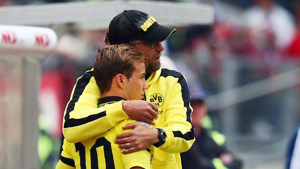 Mario Goetze saat masih dilatih Juergen Klopp di Borussia Dortmund.
