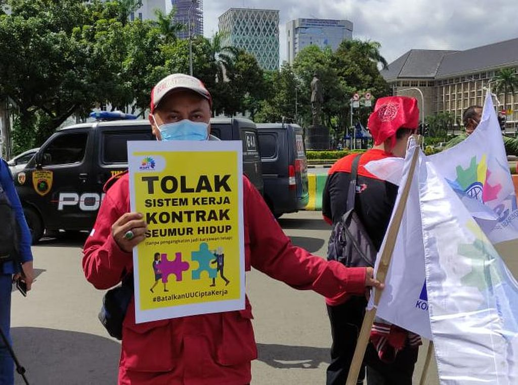 Tolak Omnibus Law, Buruh Demo Lagi