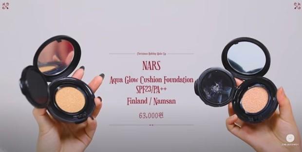 NARS Aqua Glow Cushion Foundation yang dipakai Lee Hi dalam make up menyambut liburan.