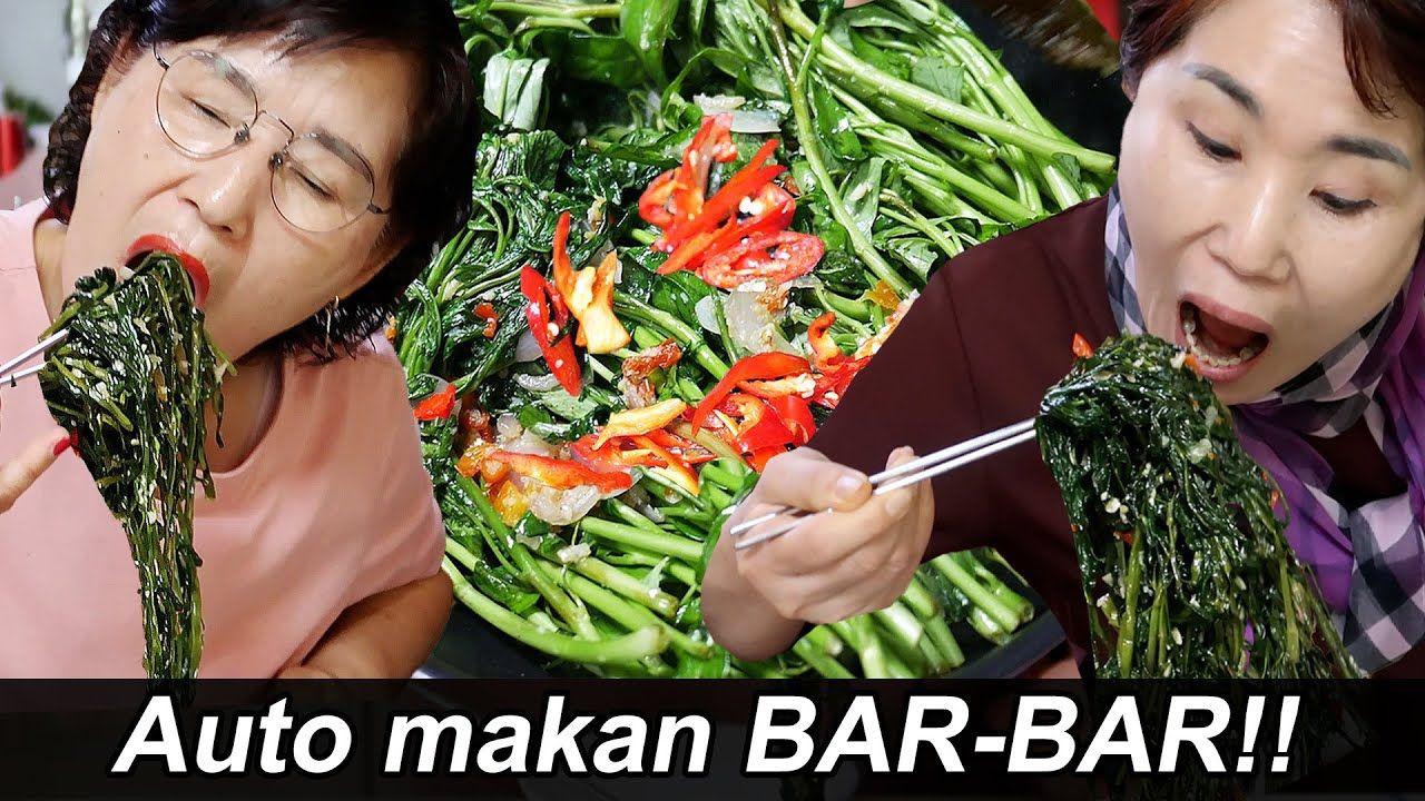 Orang Korea Lahap Makan Cah Kangkung