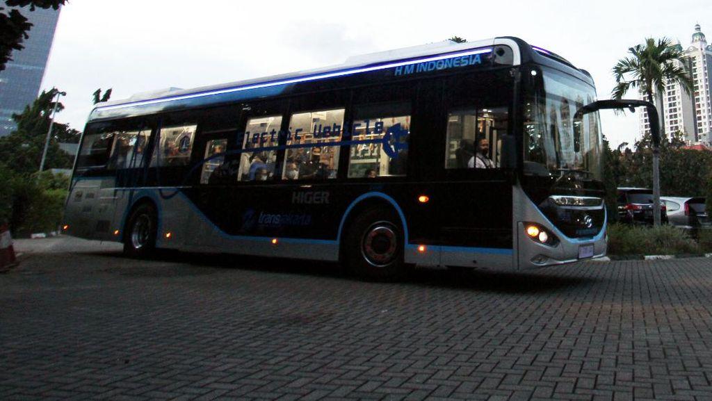 Penampakan Bus Listrik Baru TransJakarta