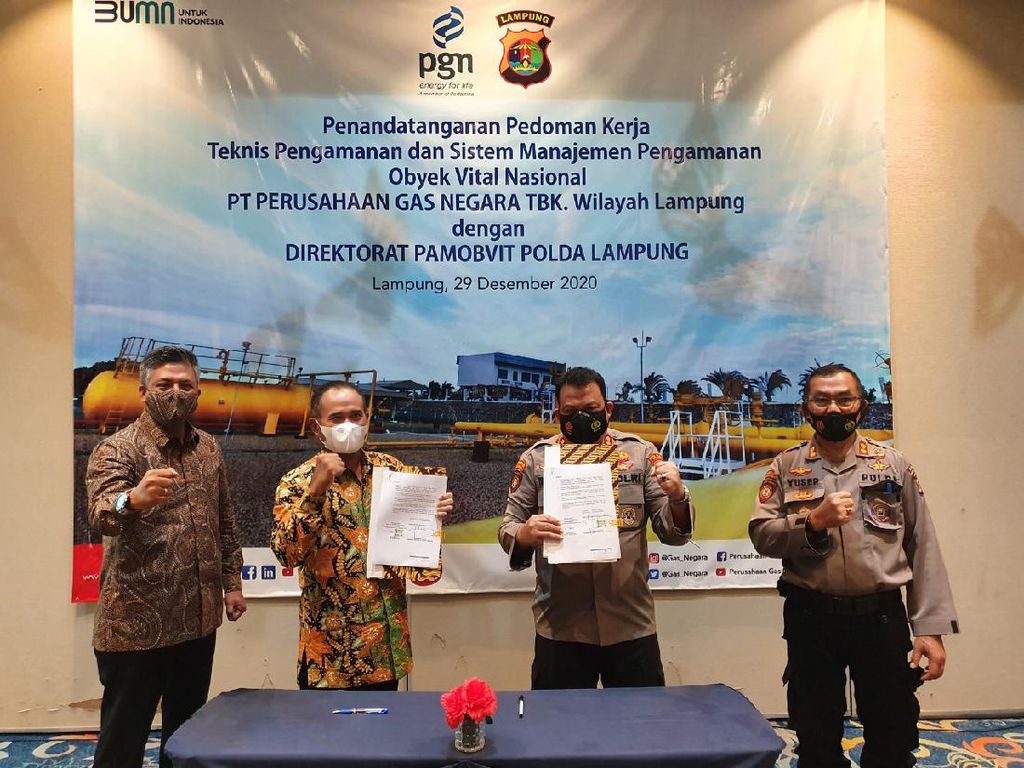 PGN dan Polda Lampung Kerja Sama Amankan Obyek Vital Nasional