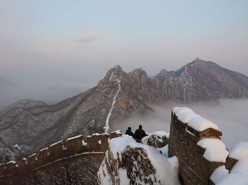 Jiankou, Sisi Terpencil Tembok Besar China Saat Diselimuti Salju