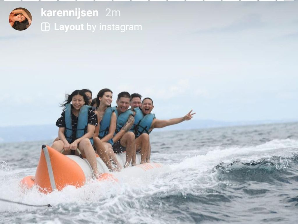 Gading Marten Liburan Bareng Karen Nijsen di Bali