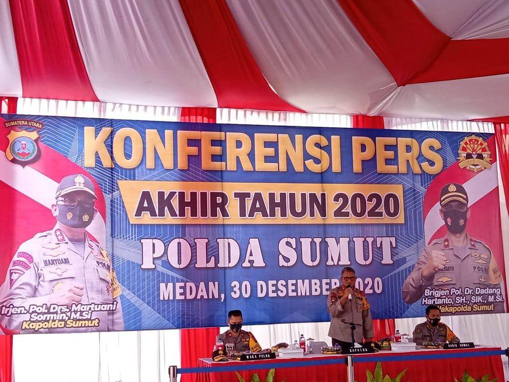 Polda Sumut Pamer Capaian 2020, Ungkap Pembunuh Jamaluddin-Sita 702 Kg Sabu