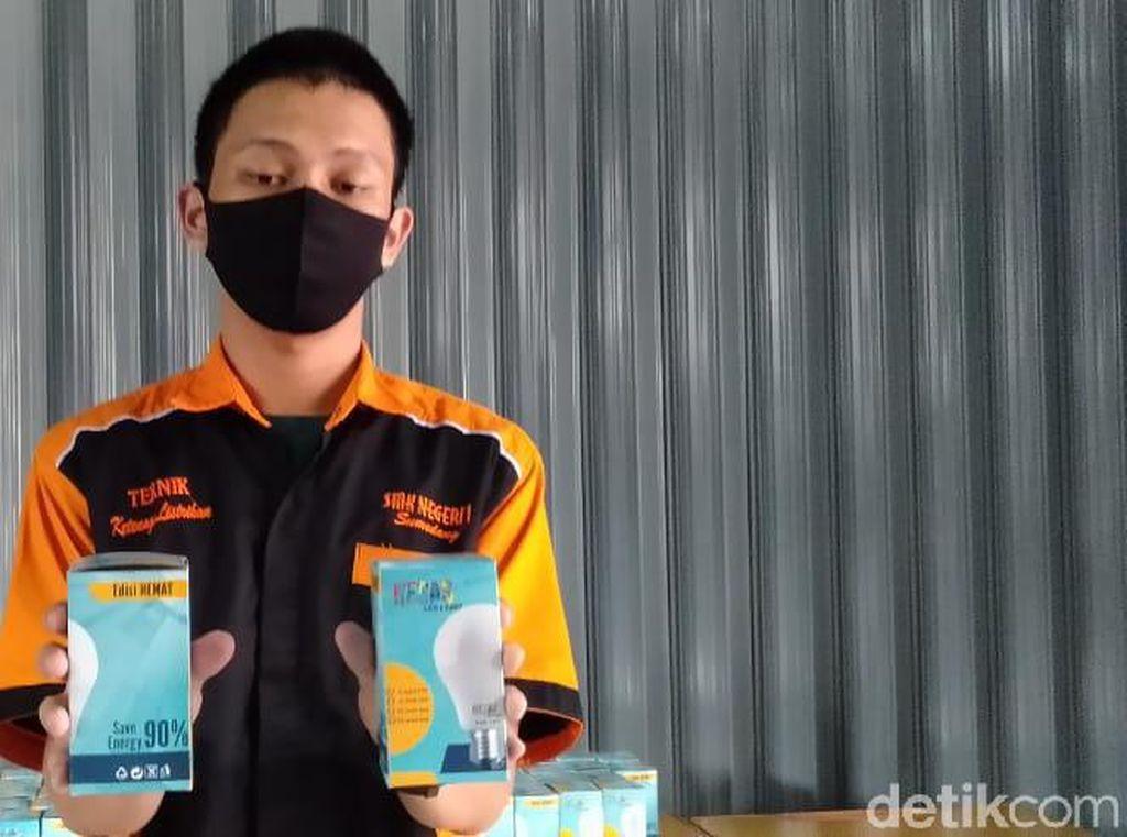 Lampu LED Hemat Energi Buatan Pelajar Sumedang Tembus Pasar Kalimantan