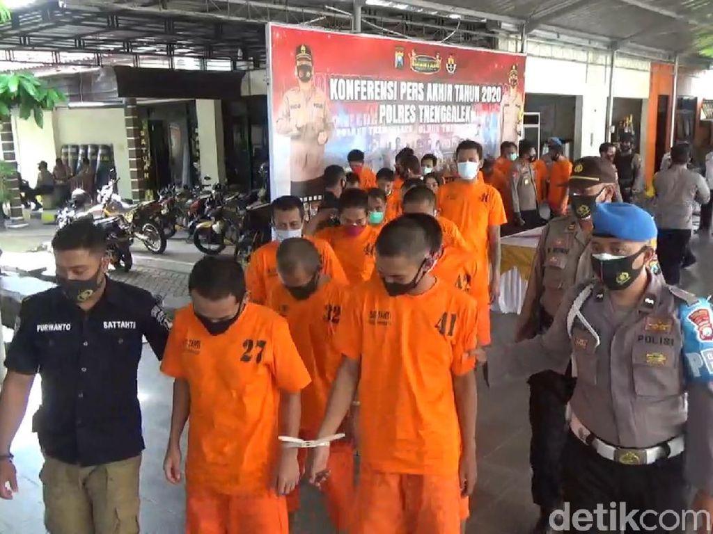 Puluhan Kasus Kriminal di Trenggalek Belum Terungkap
