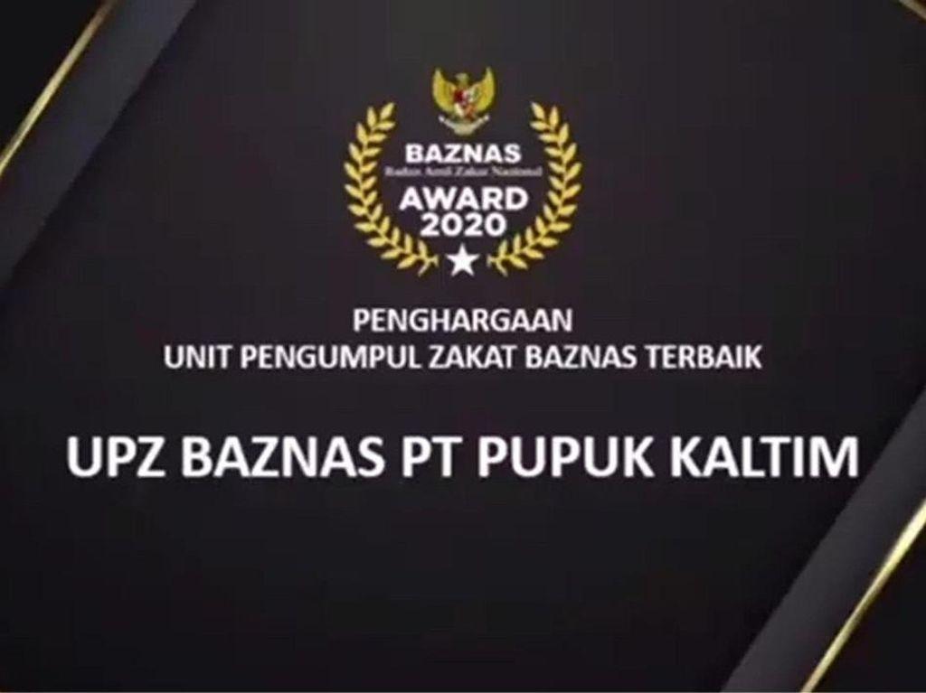 Raih Predikat Terbaik Baznas Award 2020, Ini Program UPZ Pupuk Kaltim