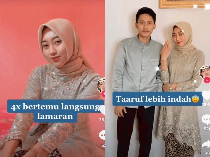 Wanita asal Bandar Lampung, Hellen Dhea Marlena viral di TikTok saat ia menjalani taaruf